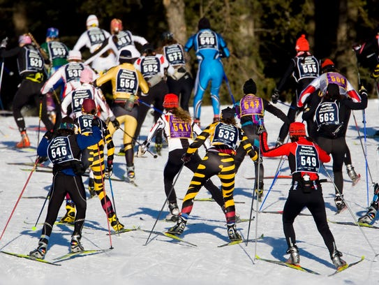The American Birkebeiner attracts thousands of skiers to northern Wisconsin every February.