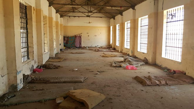 A deserted cell in the public section of Aden Central Prison is shown in this May 9 photo in Aden, Yemen.