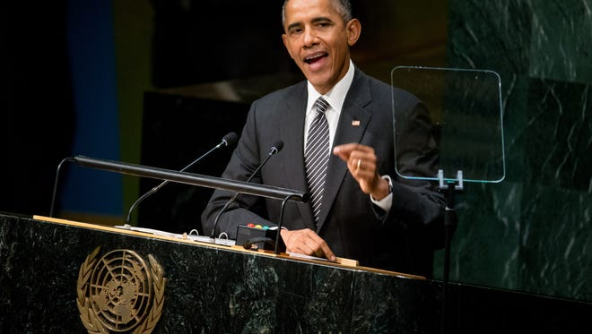 President Obama speaks at United Nations on Sunday.