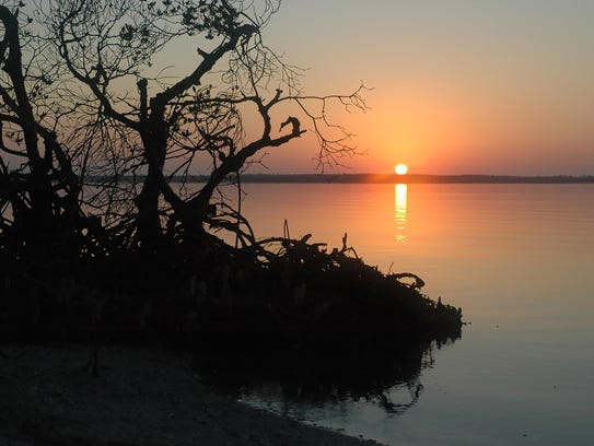 Sunrise in the 10,000 Islands. The Everglades area