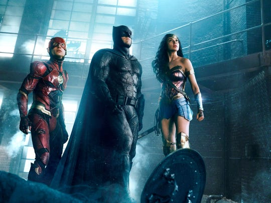 Wonder Woman (Gal Gadot, right) is back with the boys