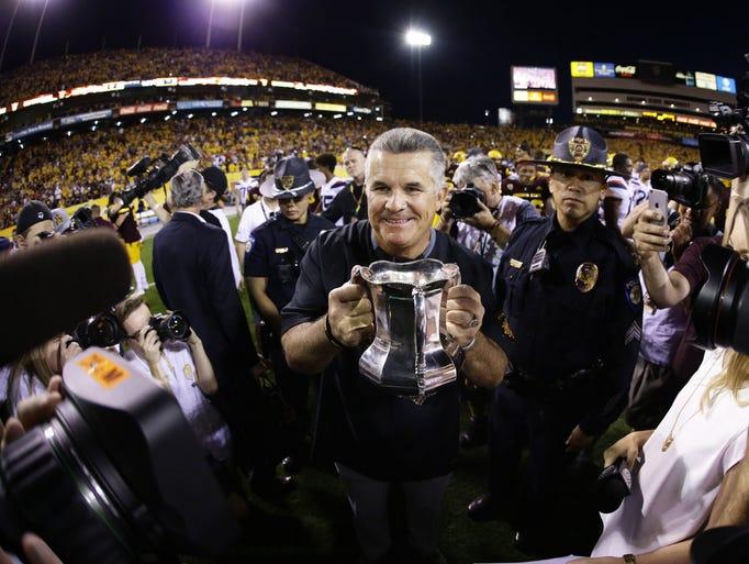 Arizona State head coach Todd Graham takes back the
