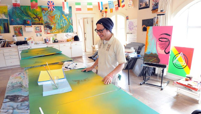 Urban Arts Collaborative co-founder Juan Carlos Gonzalez in the group's sun-filled headquarters at 215 Lincoln Avenue in Salinas.