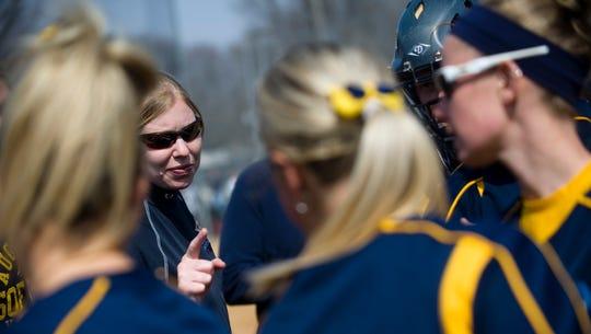 Augustana women's softball head coach Gretta Melsted