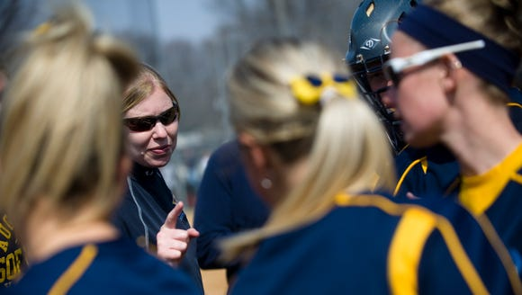 Augustana women's softball head coach Gretta Melsted