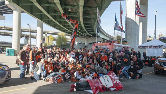 Cincinnati Bengal fans showed up for the tailgating