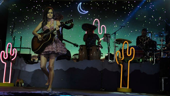 Kacey  Musgraves performs at the Bonnaroo Music and Arts Festival on Friday June 12, 2015, in Manchester.