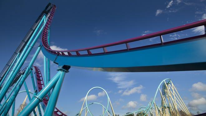 The Mako Hypercoaster will open at SeaWorld Orlando in June.