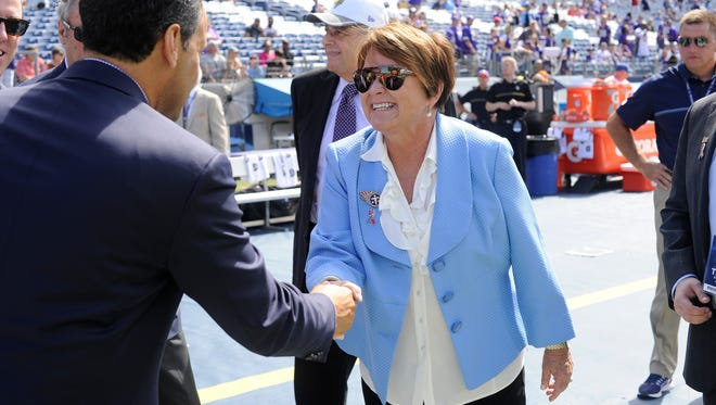 Titans owner Amy Adams Strunk before the team's home opener against the Vikings on Sept. 11.