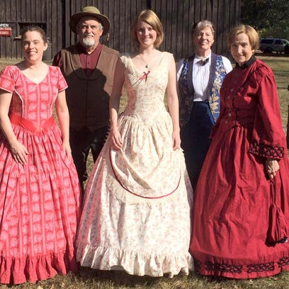 The Back Porch Players (from left): Barbara Moll Stickley, Paul Stickley, Kaylin Stickley, Carol Stickley and Elizabeth Coons.