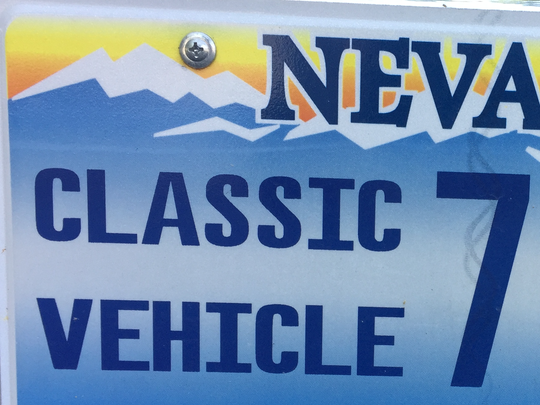 """A """"classic vehicle"""" license plate in Nevada."""