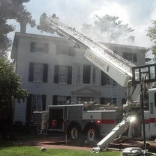 No one was injured in a fire at the Woodlawn Manor Tuesday afternoon.