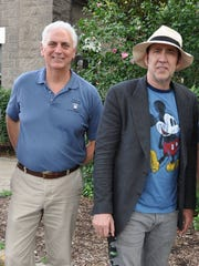 """Louisville Zoo director John Wolczak gave actor Nicolas Cage a tour of the grounds.  Cage was in Louisville to shoot the film """"Mom and Dad"""""""