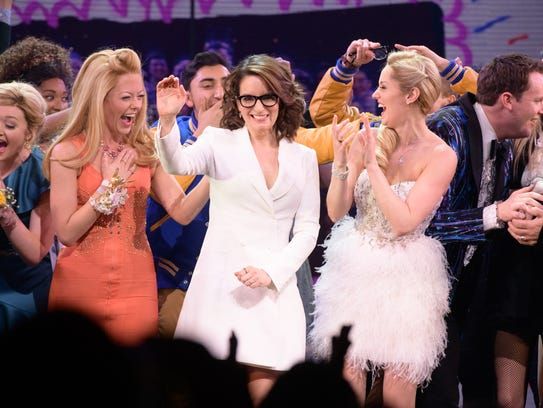 """Tina Fey and the cast of """"Mean Girls"""" are seen at the"""
