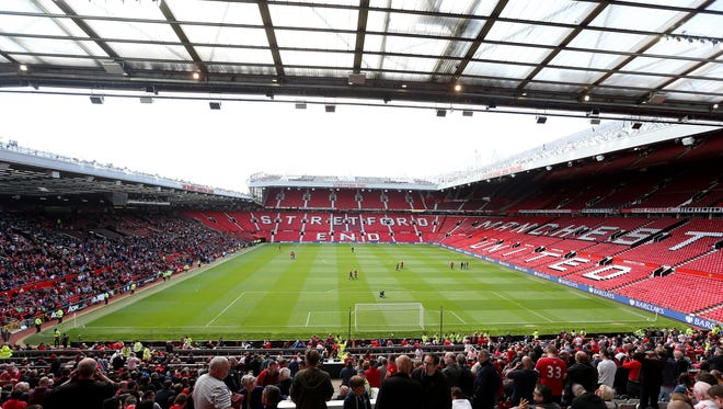 A general view after fans were evacuated from Old Tafford prior to the Premier League match between Manchester United and AFC Bournemouth.