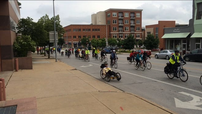 Riders across the world gathered and rode bikes to honor those who have been injured or killed while cycling on public roadways.