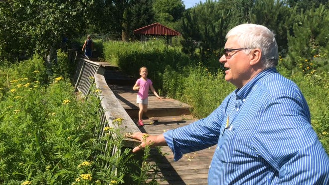 Don Lutz was the driving force behind the development of the Marathon School District's Christa McAuliffe Nature Center. He's retired as science teacher at Marathon's middle school, but he still teaches summer school programs because he loves the way the center generates excitment in students.
