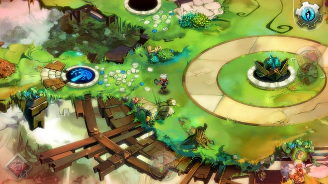 """Bastion's"" compelling story and storyteller, colorful world and intuitive gameplay combine to create a fun, exciting world ready for hours of happy immersion."