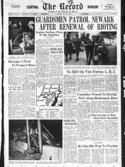 The Record front page July 14, 1967 NEWARK RIOT