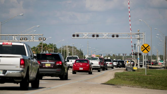 Colonial Boulevard in Fort Myers between Evans Avenue and Metro Parkway is scheduled to reopen the evening of Thursday, June 15. This stretch of road was closed to through traffic starting June 9, to upgrade  the railroad crossing and surrounding pavement.
