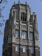 The historic Lincoln tower at Lincoln High School Thursday