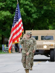 The Memorial Day parade Monday, May 28, 2018, in Manitowoc,