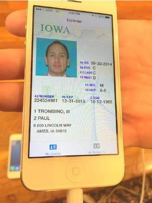The Iowa Department of Transportation plans to test its digital driver's license in 2015.