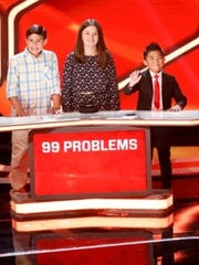 "Silva (center), from Corpus Christi, will compete on NBC's show ""Genius Junior"" on April 8, 2018."