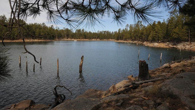 Willow Springs Lake, on the Mogollon Rim east of Payson, is popular with anglers.
