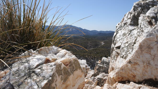 The summit of Quartz Mountain on the Prescott Circle Trail is strewn with boulders of its namesake mineral.