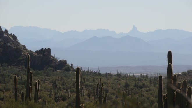 Views of the Superstition Wilderness and Weavers Needle from McDowell Sonoran Preserve.