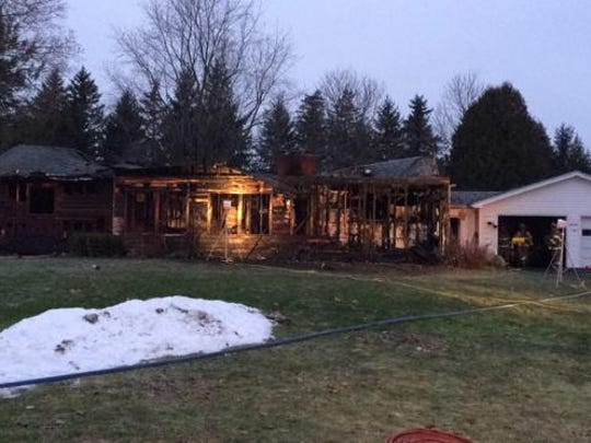 Firefighters tried venting the fire from the roof, but icy conditions prevented that.