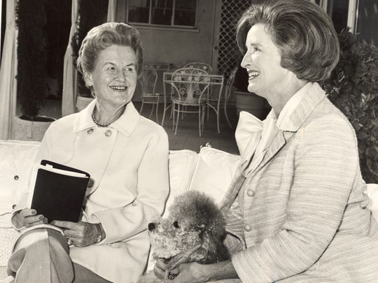 Melba Bennett and Dolores Hope, as pictured in January 1966.