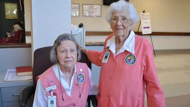 Mary Beebe (left) and Genny Murphy (right) were recognized last year by the Christus St. Frances Cabrini Hospital Auxiliary group as the first ever volunteers of the year. The pair joined the volunteer group in the 70s and have dedicated a combined total of 26,288 hours of service to the hospital. The 92-year-olds also share October 27th birthdays.