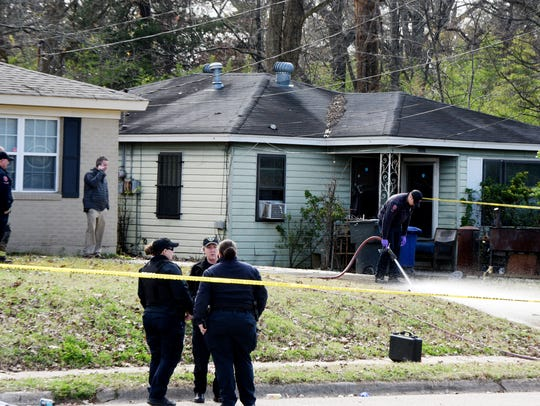 Police on the scene at the home of Shreveport Police