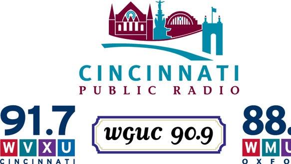Cinci Public Radio logos stacked