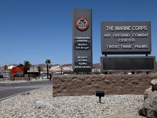 The Marine Corps Air Ground Combat Center in Twentynine Palms, photographed May 22, 2013.