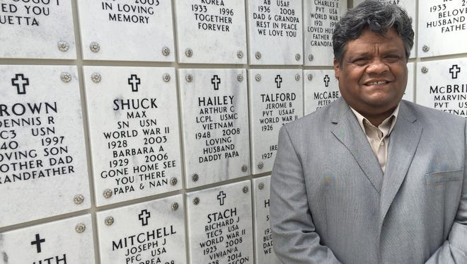 Roy Luera, 52, of Grand Blanc is director of the Great Lakes National Cemetery near Flint.