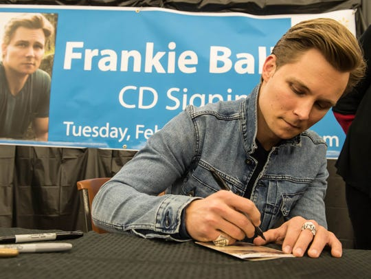 Country musician Frankie Ballard  returned home for