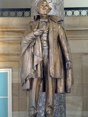This statue of Jefferson Davis, the president of the