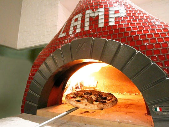 The oven at Lamp Wood Oven Pizzeria.