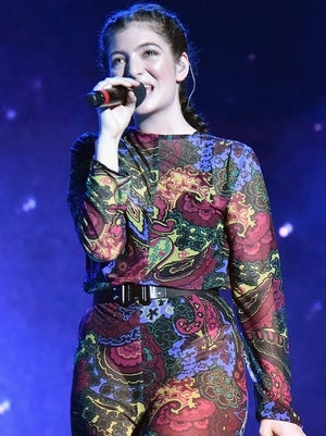 Lorde performs onstage at Bonnaroo music festival in Manchester, Tenn., on Sunday. Her new album, 'Melodrama,' is out Friday.
