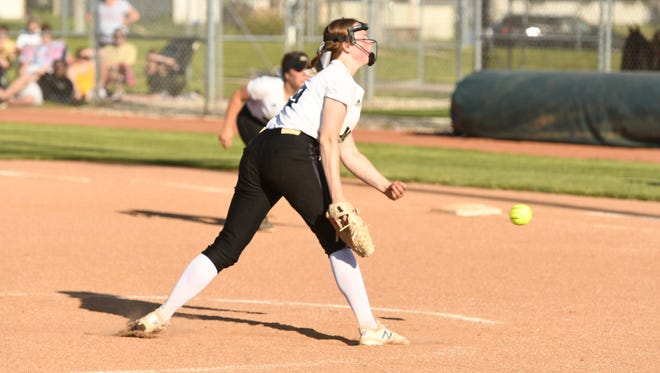 Carmel vs. Noblesville in IHSAA softball sectional action, May 24, 2018.