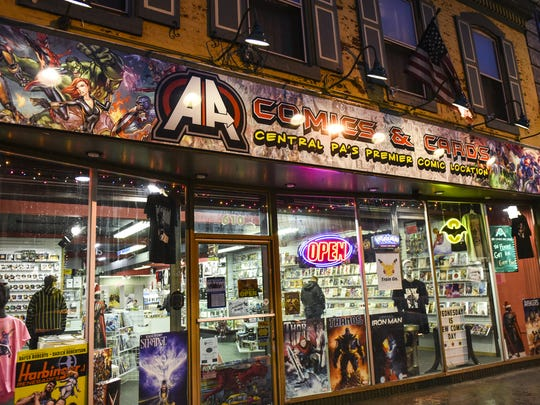"A new comic book store has opened up in the heart of Lebanon. AA Comics and Cards held its grand opening on Nov. 19. ""This is kind of my return to Lebanon,"" said Paul Zerman, owner of the comic book shop. The store is located in the former Marty's Music building at 610 E. Cumberland St."