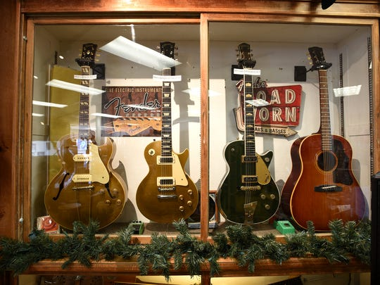The vintage case at Creter Guitar Shop in Jonestown.