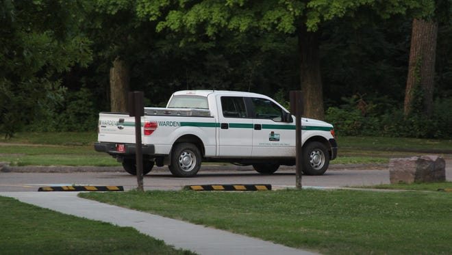 A Wisconsin conservation warden truck at Devil's Lake State Park near Baraboo.
