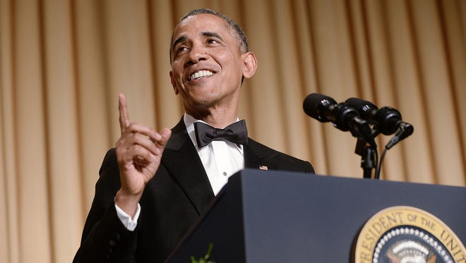 President Obama speaks at the annual White House Correspondents Association Gala at the Washington Hilton hotel May 3. The dinner is an annual event attended by journalists, politicians and celebrities.