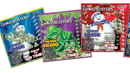 """A new scratcher game ticket from the New Mexico Lottery features a """"Ghostbusters"""" theme."""