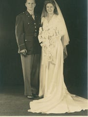 Lt. Edward A. Keenan Jr., M.D, and Ione Lacy Keenan on Sept. 16, 1944.