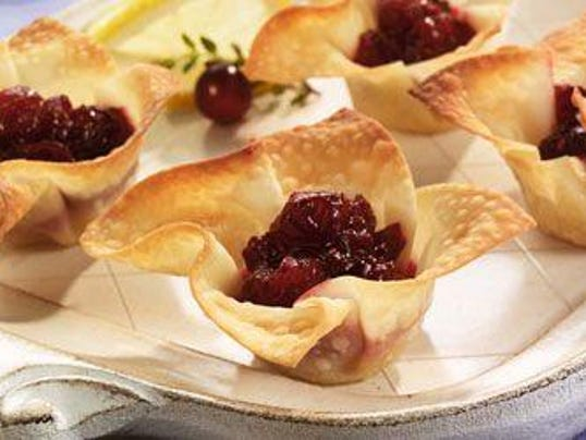 cranberry brie tarts. credit ocean spray